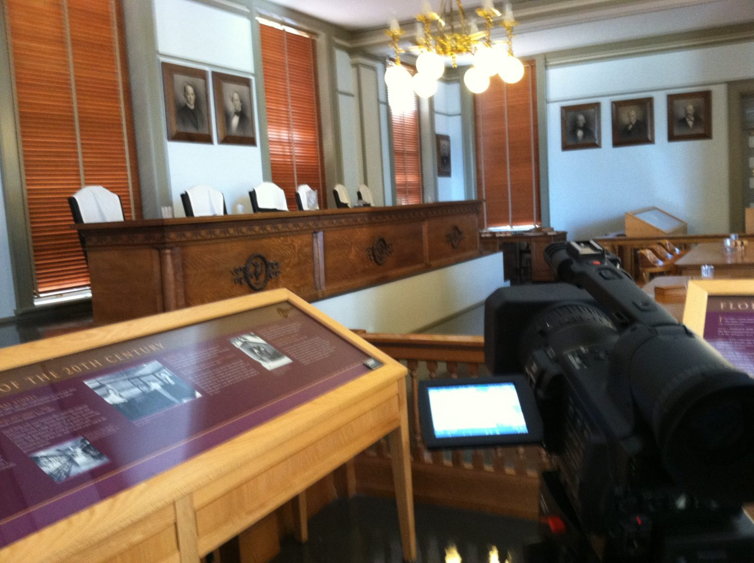 Filming in the Old Florida Supreme Courtroom
