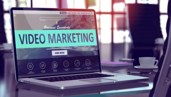 Video Marketing Concept on Laptop Screen