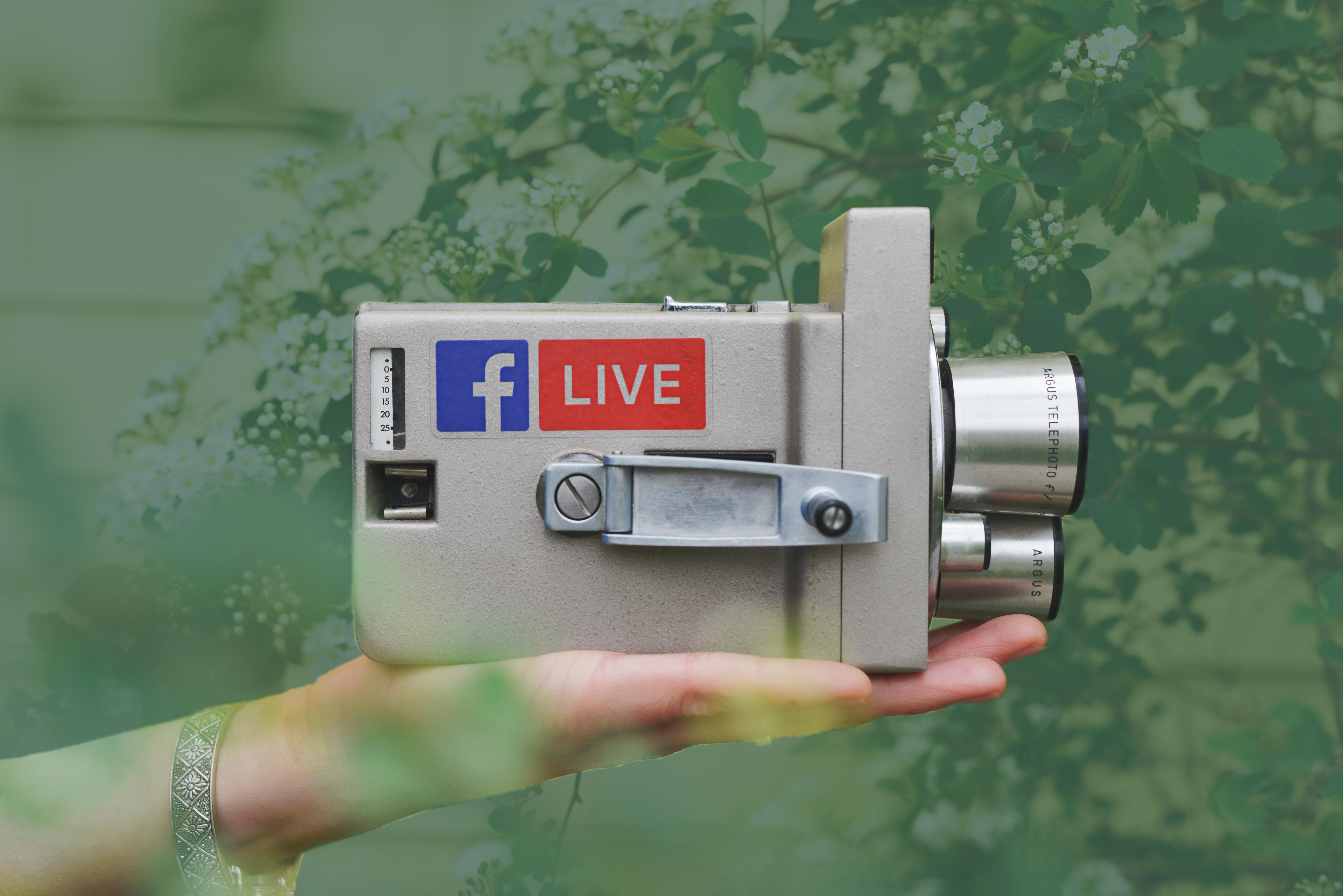 camera with Facebook Live sticker