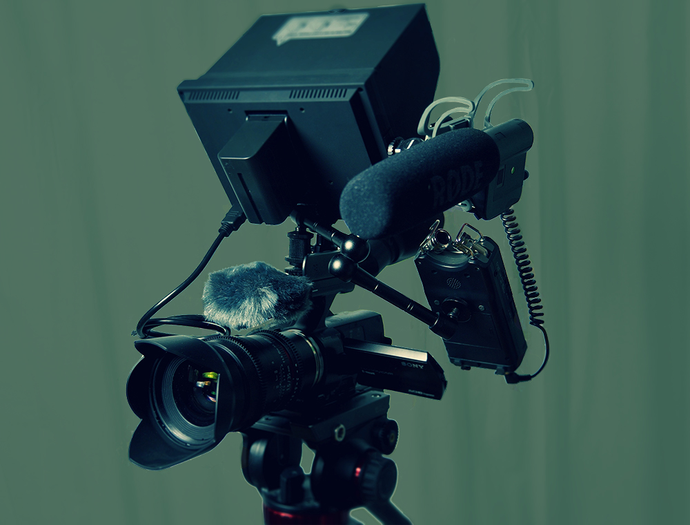 video camera with mic